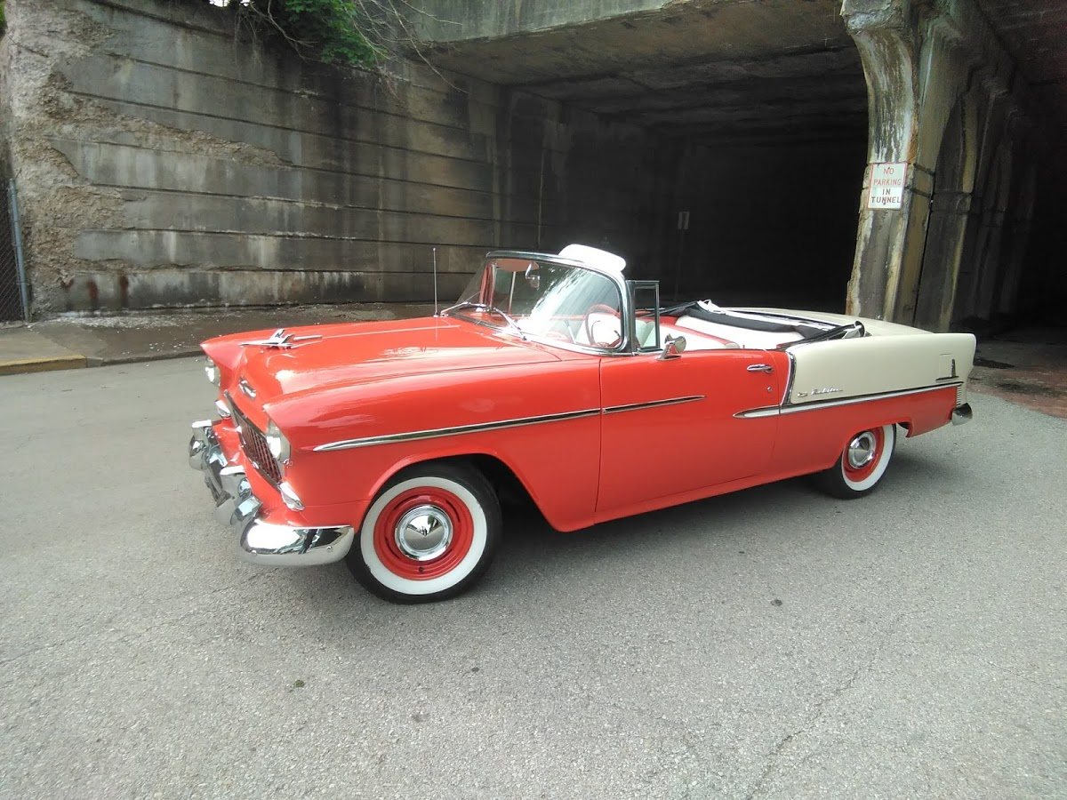 1955 Chevrolet Belair Convertible Fort Pitt Classic Cars Chevy Frame Vin Number Location 69950